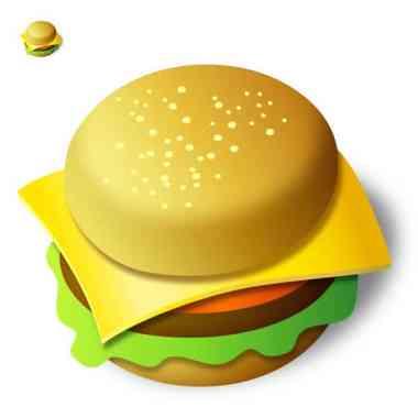 Recreation of a burger